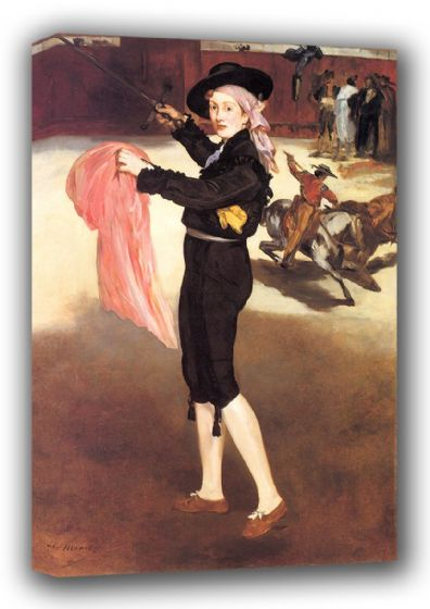 Manet, Edouard: Mademoiselle in the Costume of an Espada. Fine Art Canvas. Sizes: A3/A2/A1 (00677)